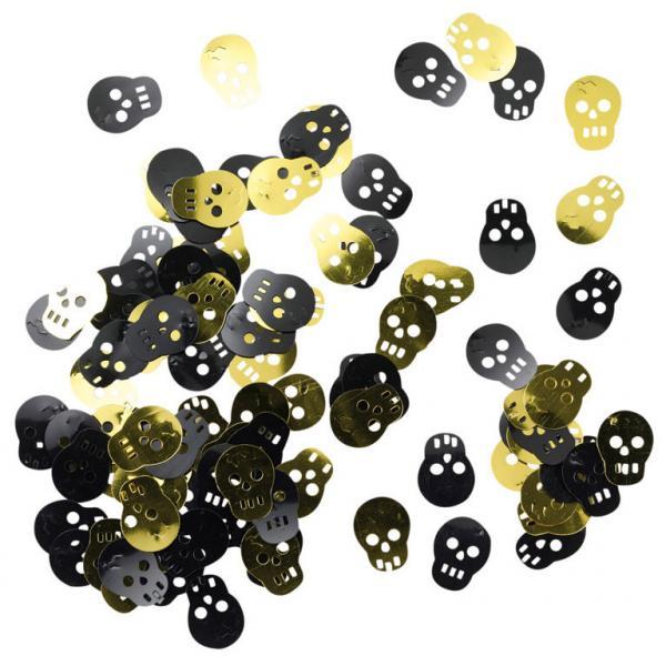 Dødningehoved konfetti til børnefødselsdag - 14g