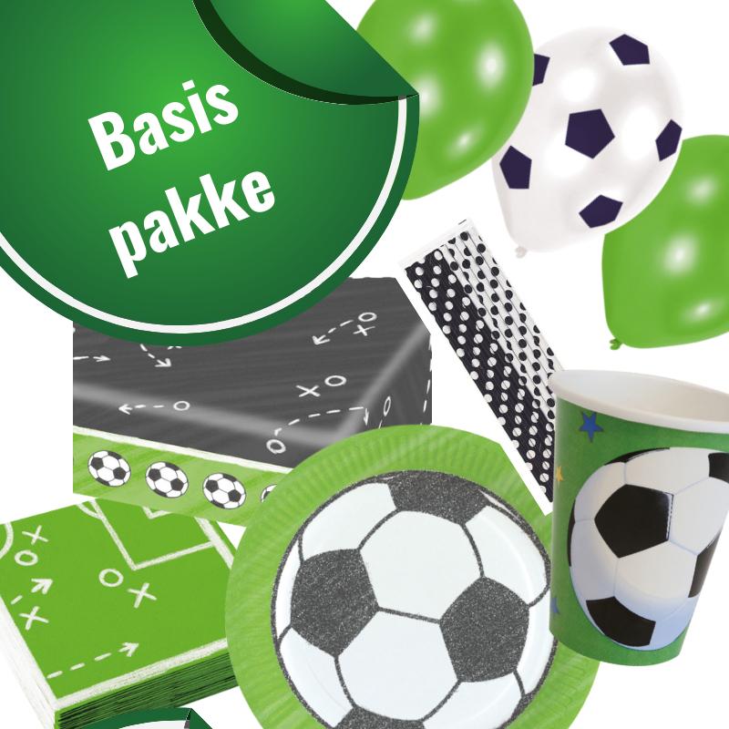 Fodboldfest pakke 'Basis' med 41 stk. fodbold pynt.