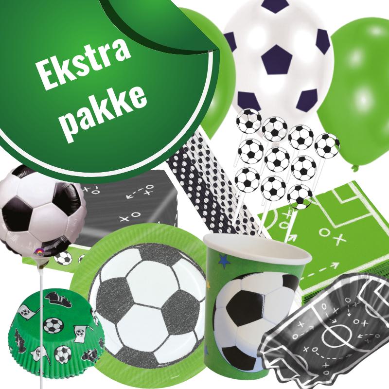 Fodboldfest pakke 'Ekstra' med 134 stk.  fodboldpynt.