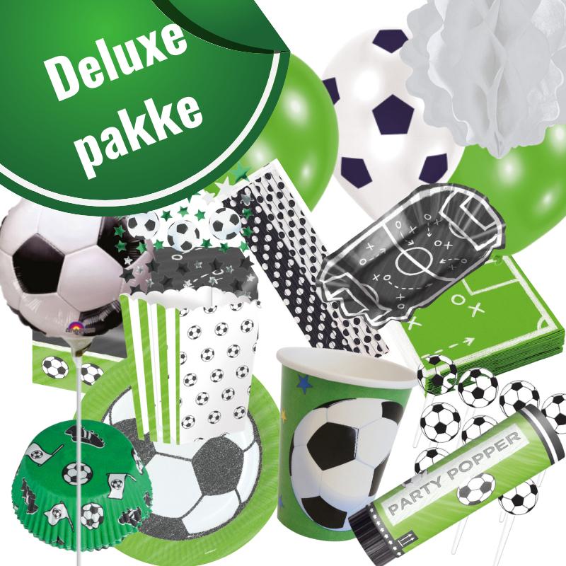 Fodboldfest pakke 'Deluxe' med 142 stk. fodboldpynt.