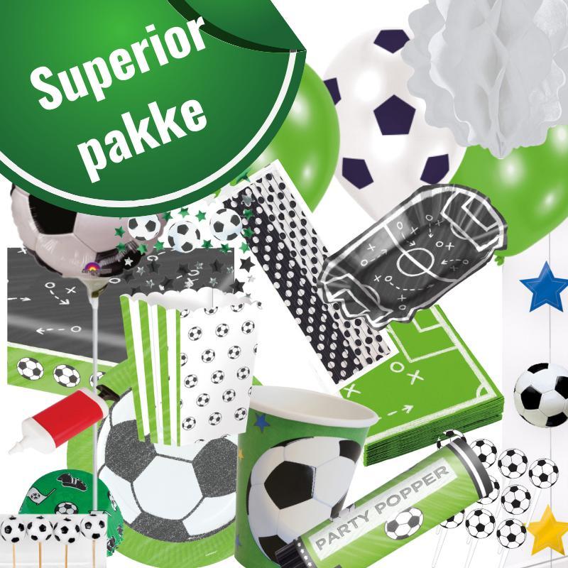 Fodboldfest pakke 'Superior' med 156 stk. fodboldpynt.
