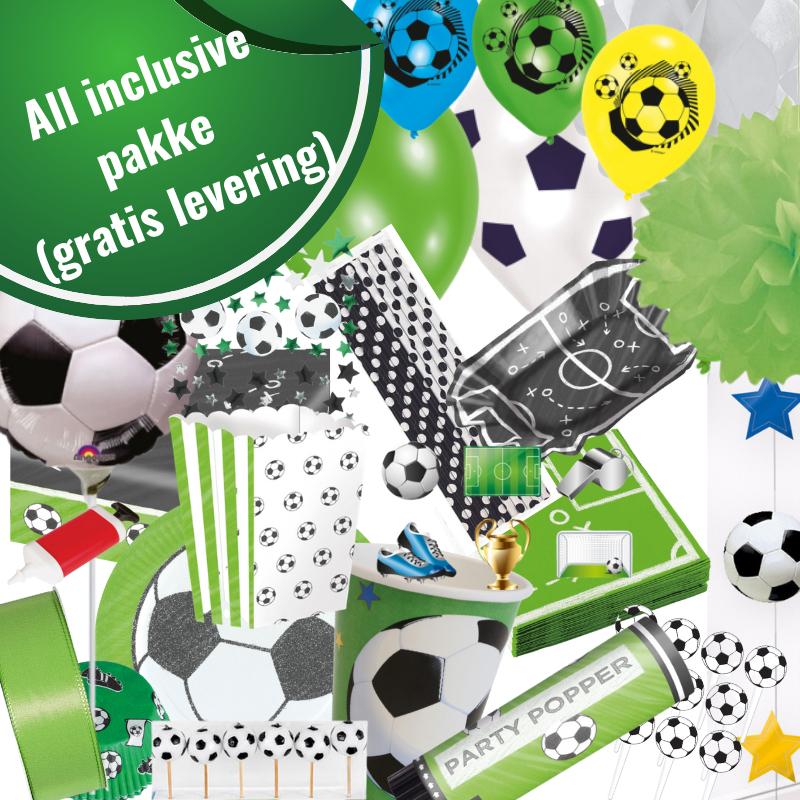 Fodboldfest pakke 'All inklusive' med 170 stk. fodboldpynt.