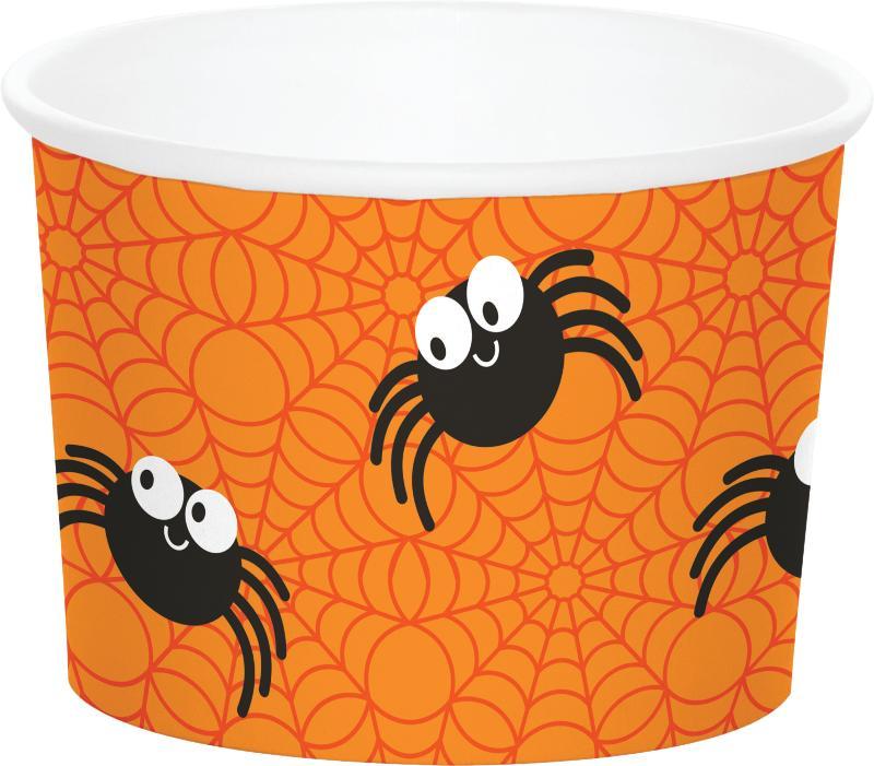 Popcorn bægre til Halloween, edderkopper - 6 stk.