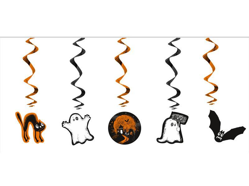 Halloween guirlande, swirls - 3 skt.
