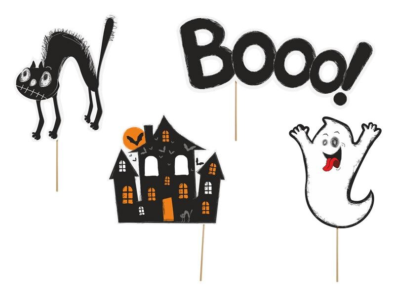 Halloween pynt - 4 stk.