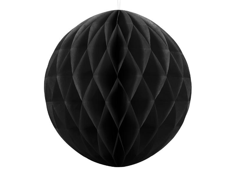 Honeycomb dekorationskugle, sort, 30 cm - 1stk.