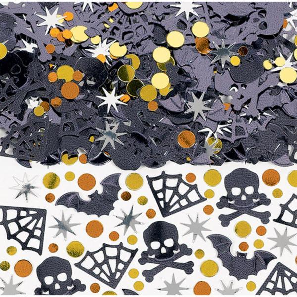 Halloween konfetti, flagermus og spindelvæv - 15 g