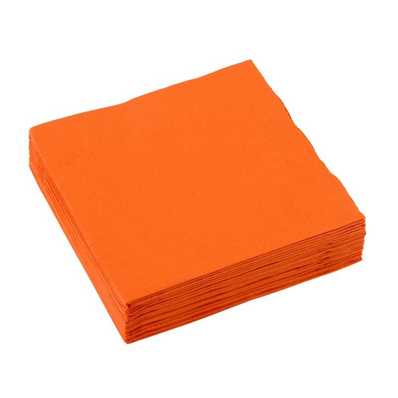 Servietter orange - 20 stk.