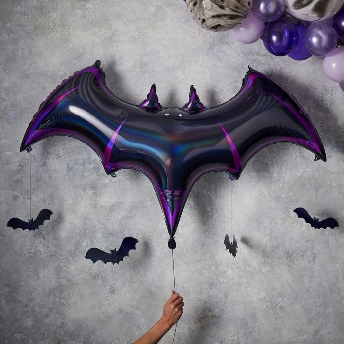Halloween ballon flagermus, megasize, 130 x 80 x 20 cm   - 1 stk.