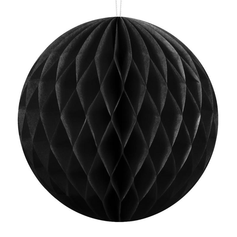 Honeycomb dekorationskugle, Sort, Ø10cm - 1 stk.