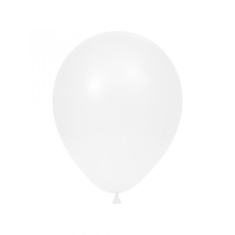 Balloner, hvide, latex - 10 stk.
