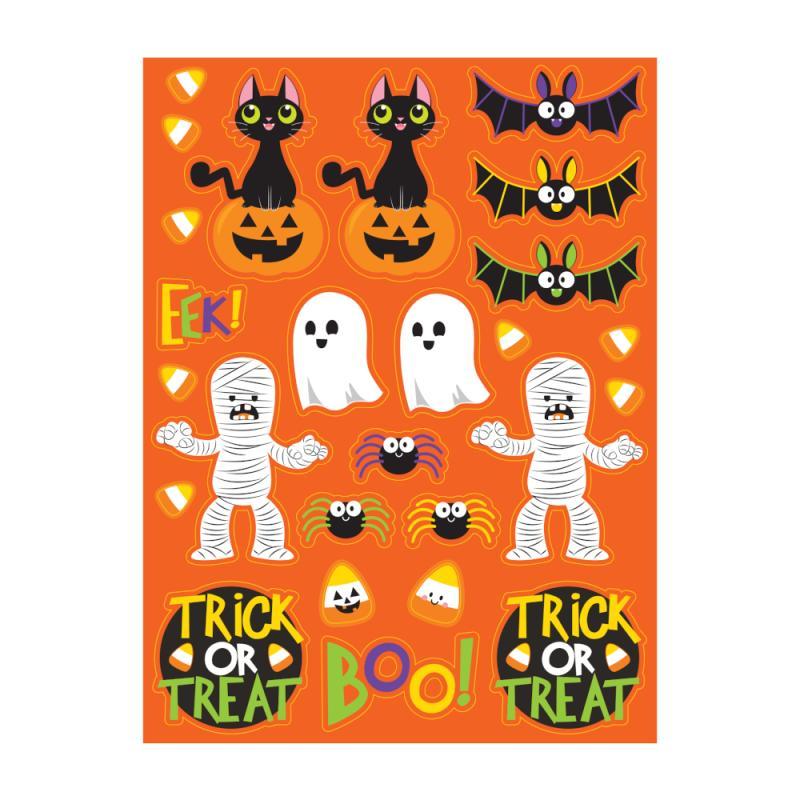 Klistermærker til Halloween - 4 ark