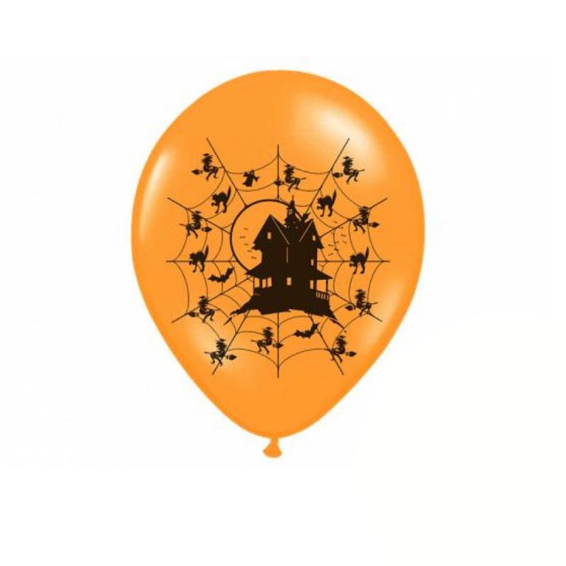 Halloween balloner, orange - 6 stk.