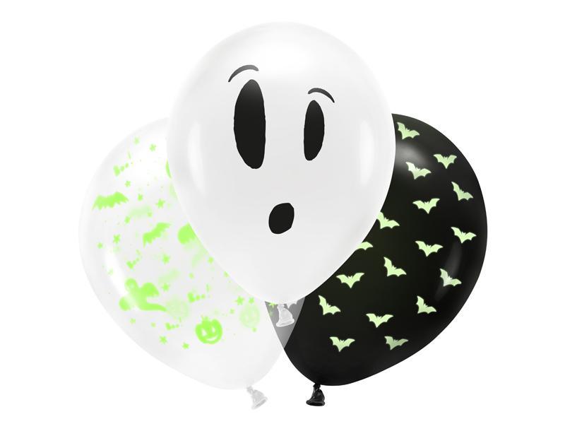 Halloween balloner, blacklight - 3 stk.