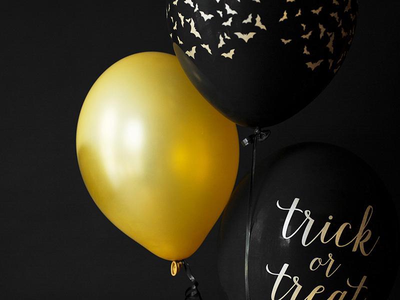 Balloner i silke optik, guld, latex - 10 stk.