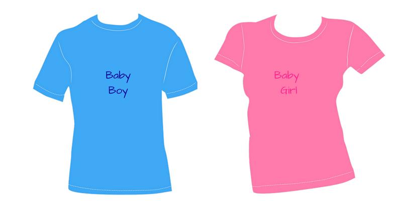 Baby Shower leg med farverige T-shirts